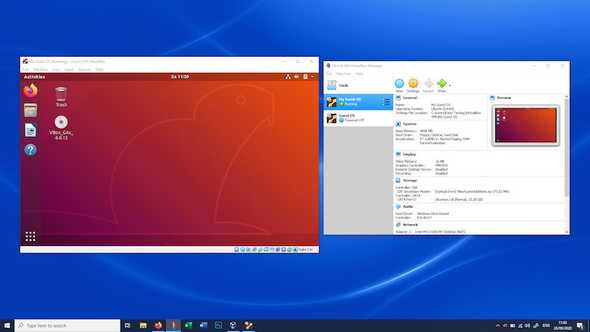 Running an Ubuntu session using VirtualBox